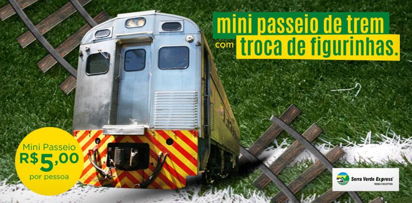 Serra Verde promove Mini Passeio de Trem
