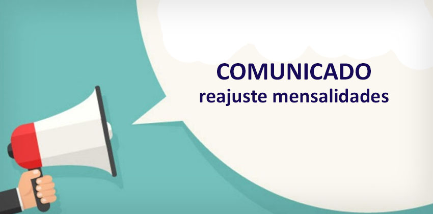 Comunicado Reajuste Mensalidade 2019