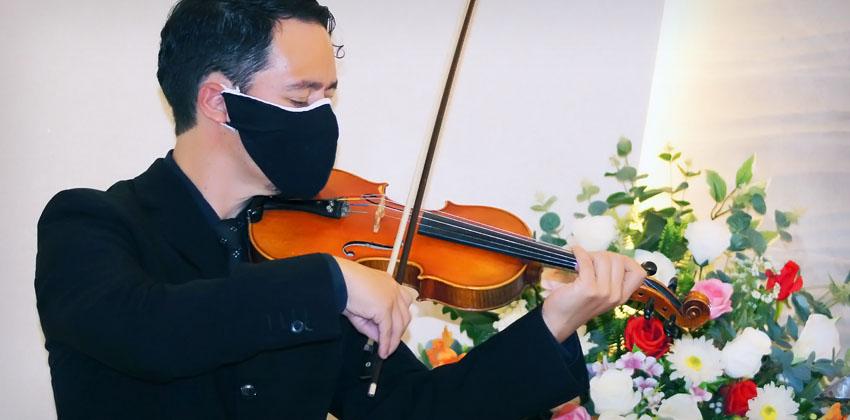 Unilutus oferece cerimônia de despedida com violinista